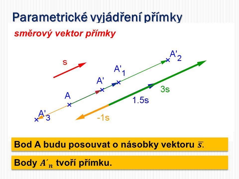 Parametrické vyjádření přímky