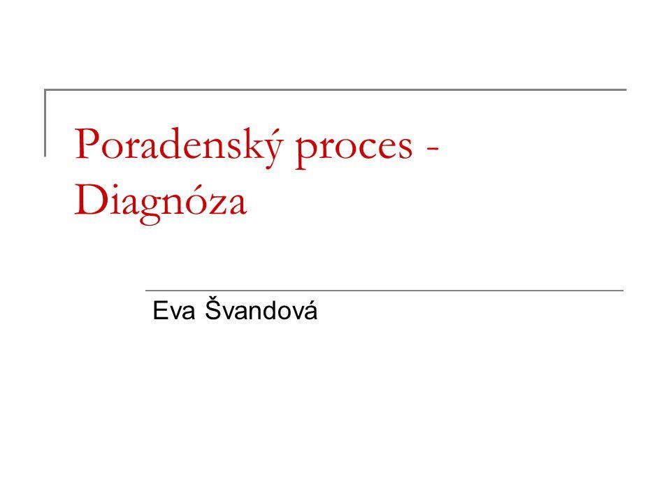 Poradenský proces - Diagnóza