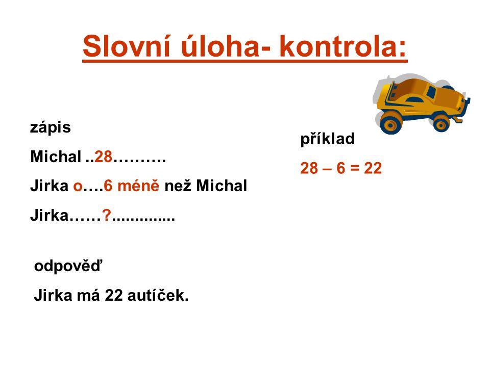 Slovní úloha- kontrola: