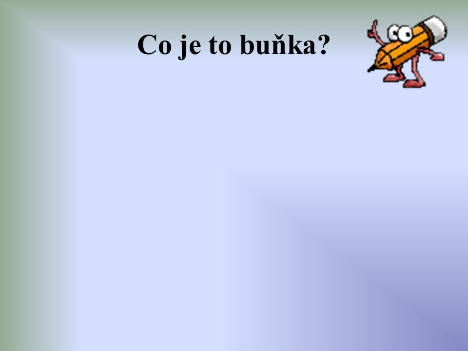 Co je to buňka