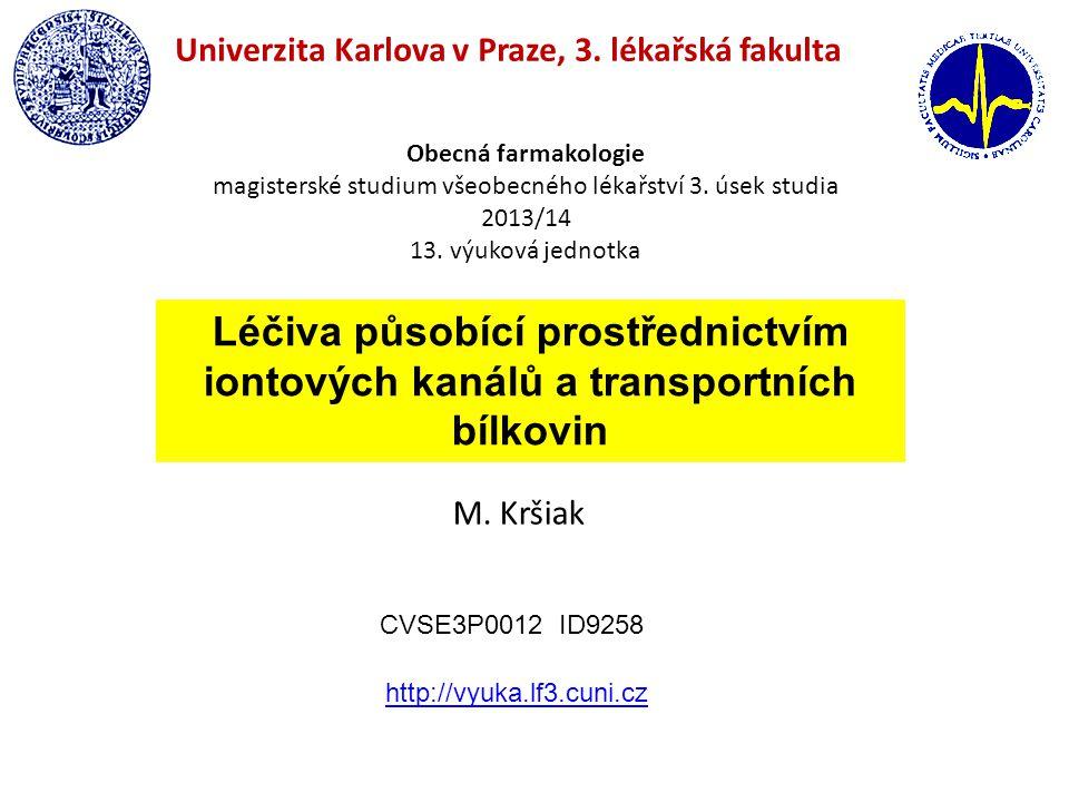 magisterské studium všeobecného lékařství 3. úsek studia