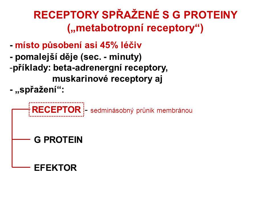 """RECEPTORY SPŘAŽENÉ S G PROTEINY (""""metabotropní receptory )"""
