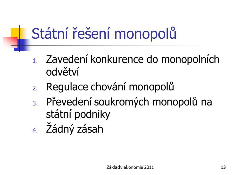 Státní řešení monopolů