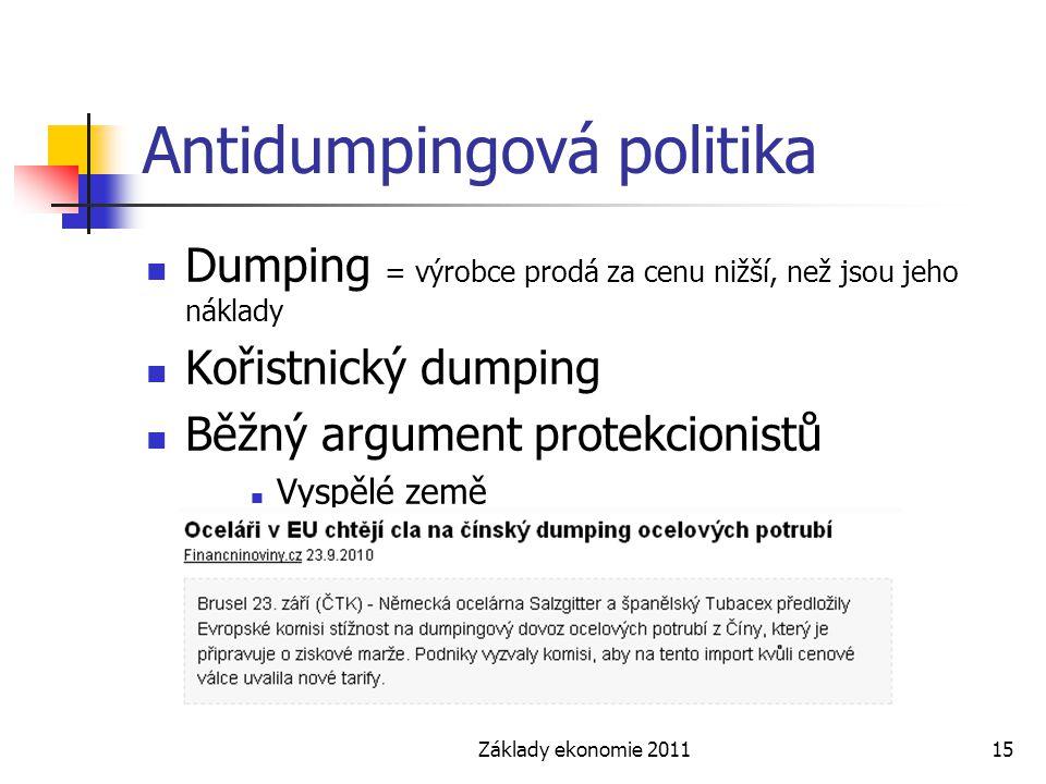 Antidumpingová politika