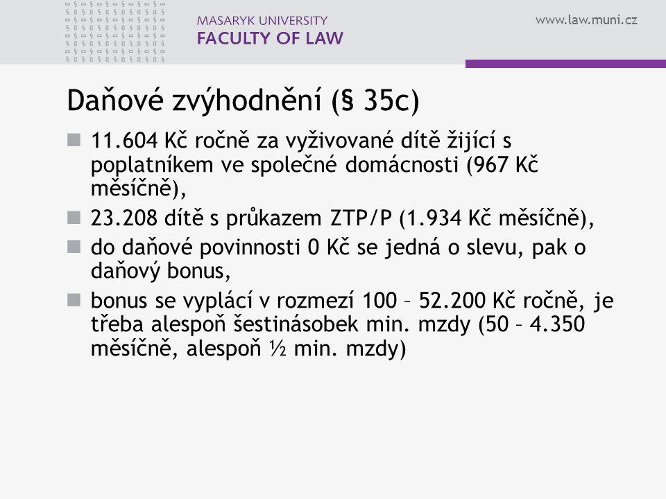 Daňové zvýhodnění (§ 35c)