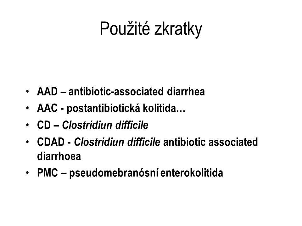 Použité zkratky AAD – antibiotic-associated diarrhea