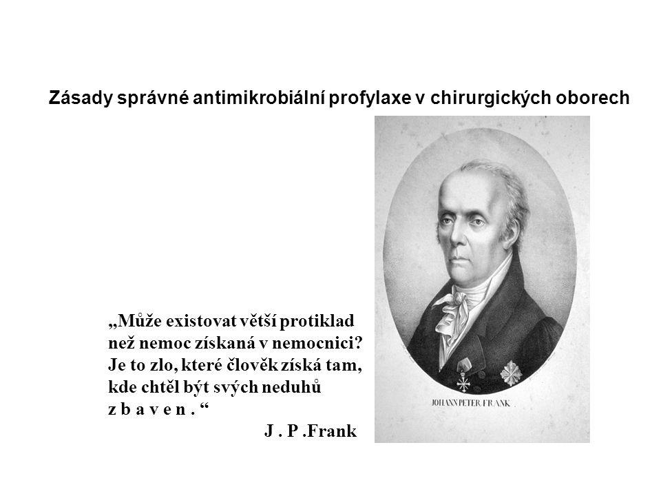 Zásady správné antimikrobiální profylaxe v chirurgických oborech