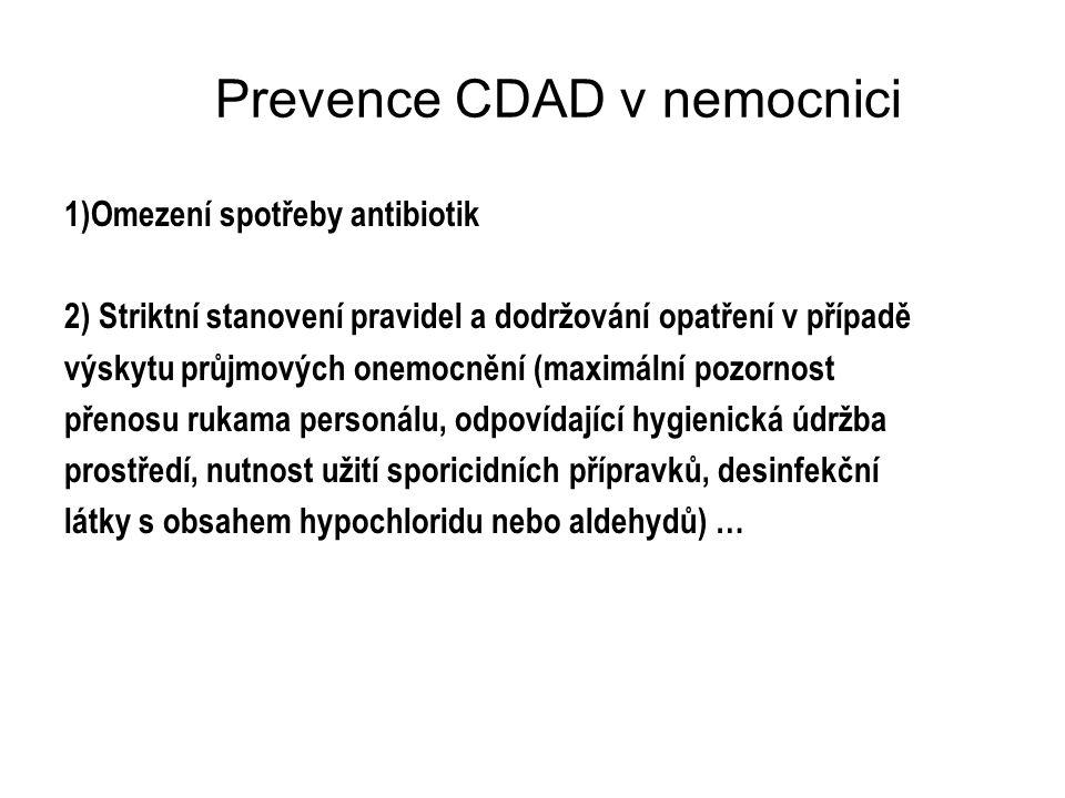 Prevence CDAD v nemocnici