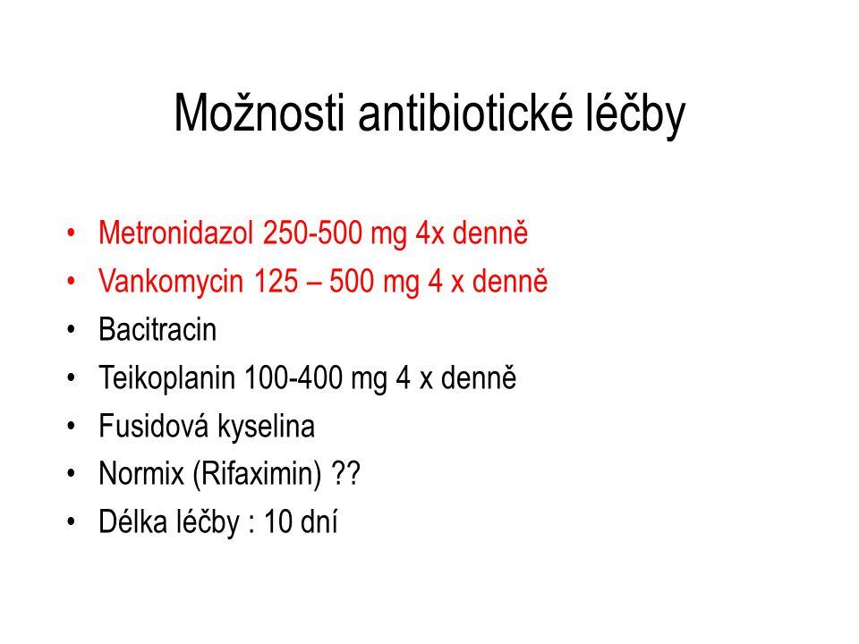 Možnosti antibiotické léčby