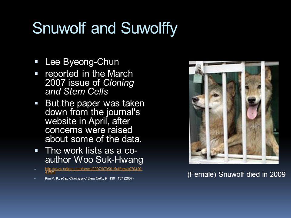 Snuwolf and Suwolffy Lee Byeong-Chun