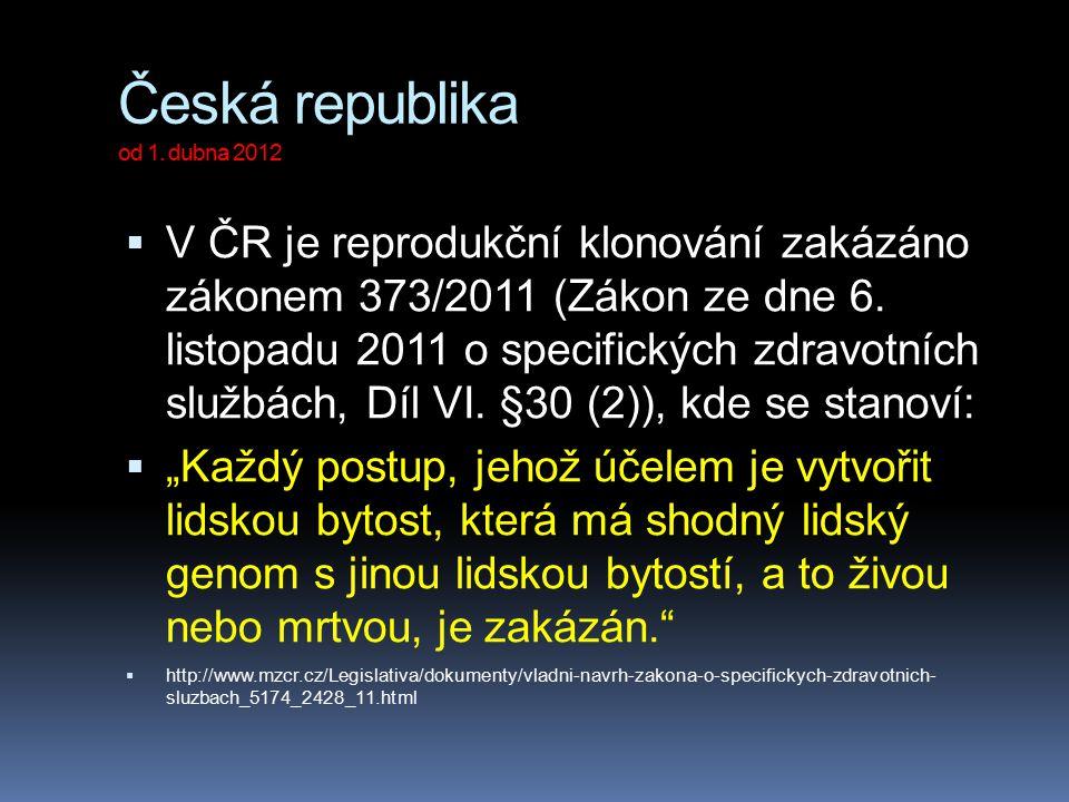 Česká republika od 1. dubna 2012