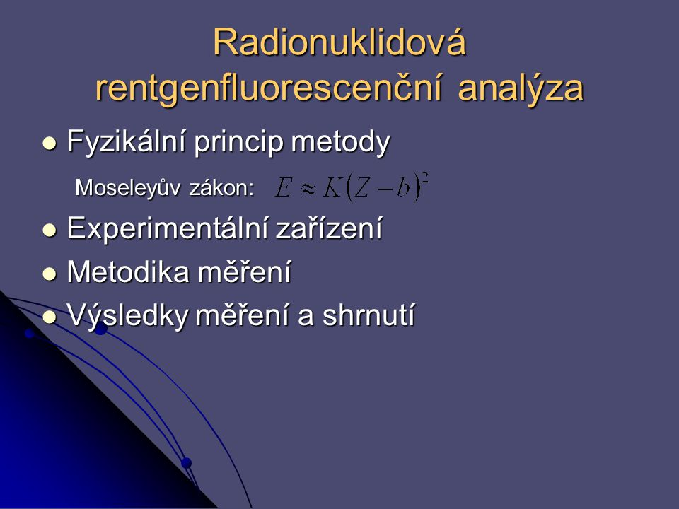 Radionuklidová rentgenfluorescenční analýza