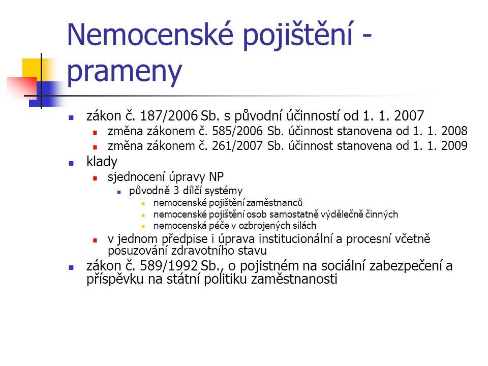 Nemocenské pojištění - prameny
