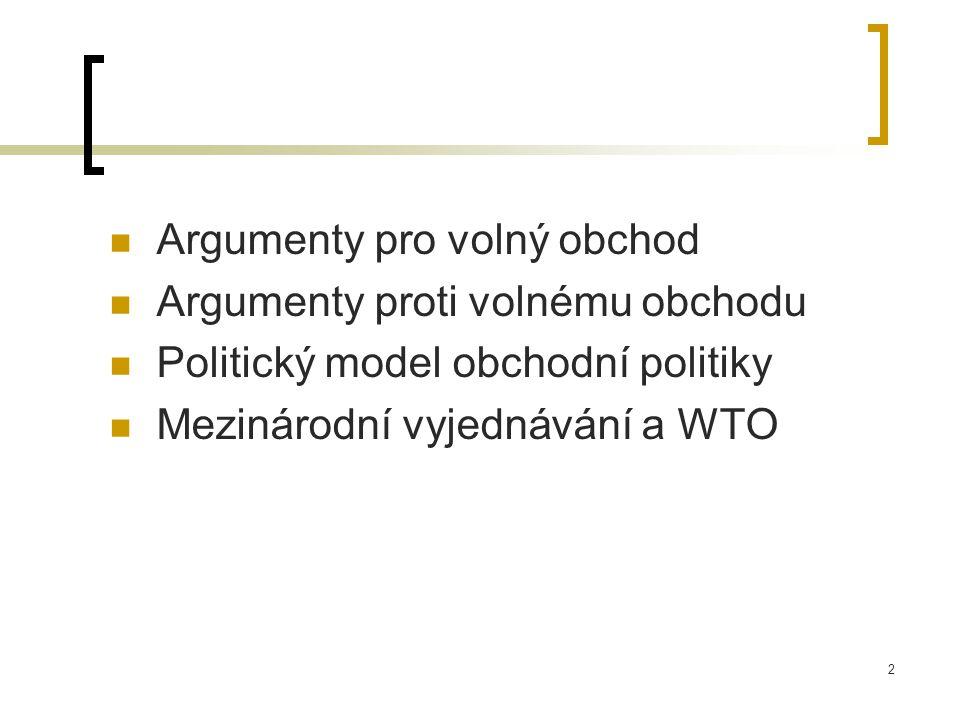 Argumenty pro volný obchod