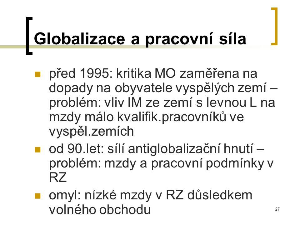 Globalizace a pracovní síla