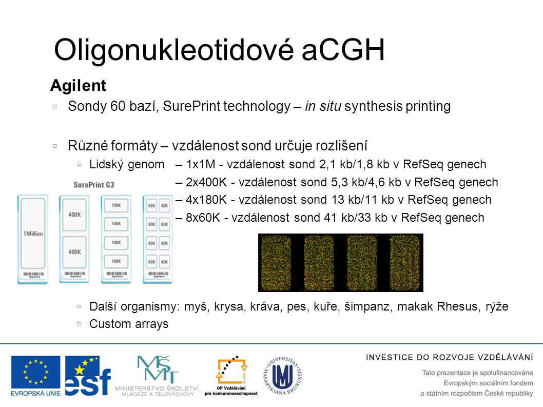 Oligonukleotidové aCGH