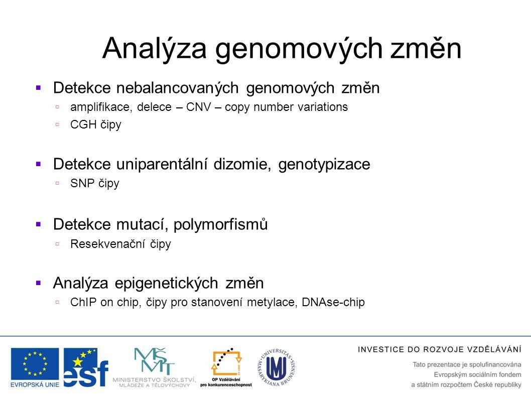 Analýza genomových změn