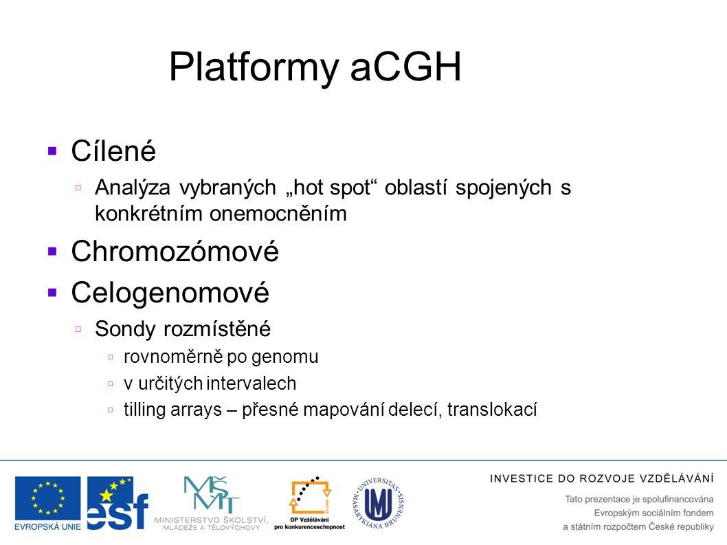 Platformy aCGH Cílené Chromozómové Celogenomové