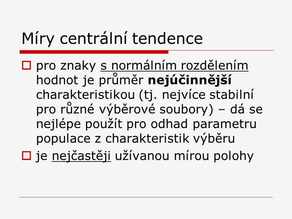 Míry centrální tendence