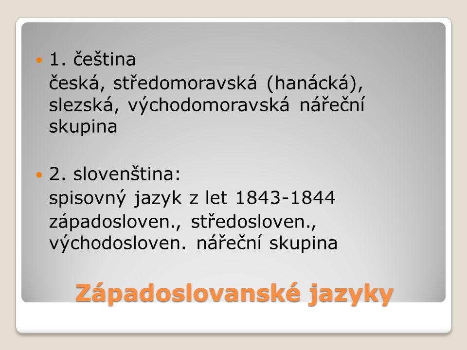 Západoslovanské jazyky