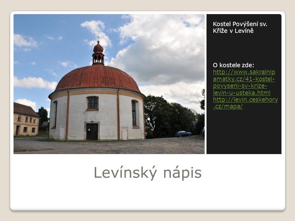 Levínský nápis Kostel Povýšení sv. Kříže v Levíně