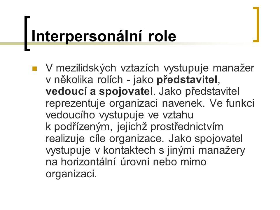 Interpersonální role