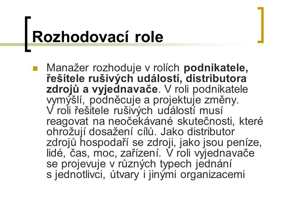 Rozhodovací role
