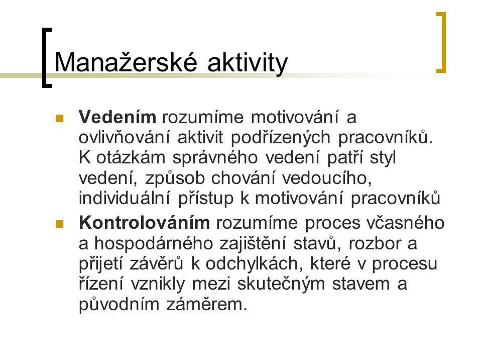 Manažerské aktivity