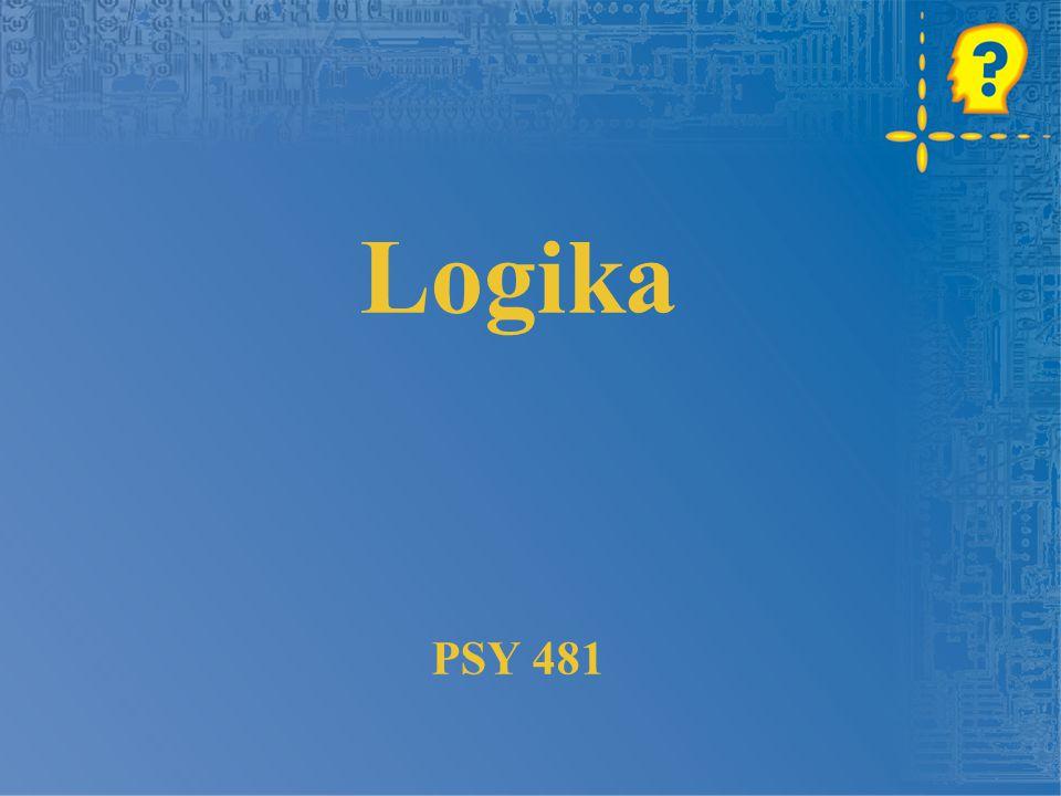 Logika PSY 481
