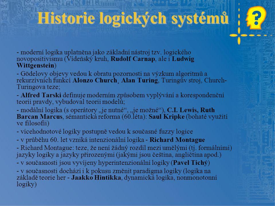 Historie logických systémů
