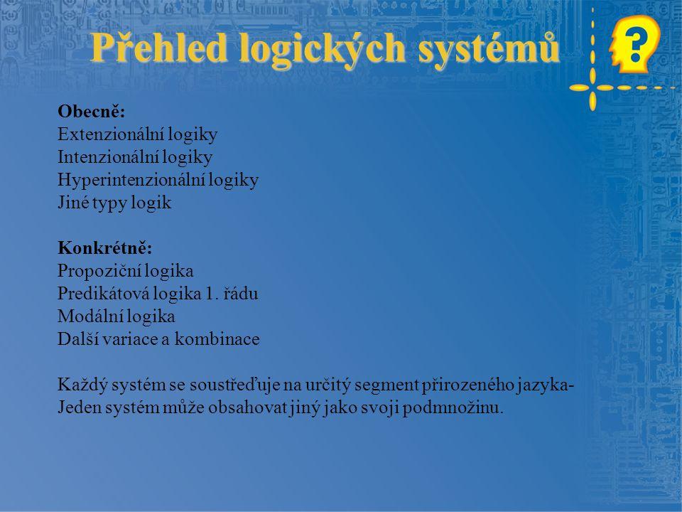 Přehled logických systémů