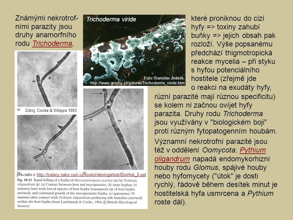 různí parazité mají různou specificitu)