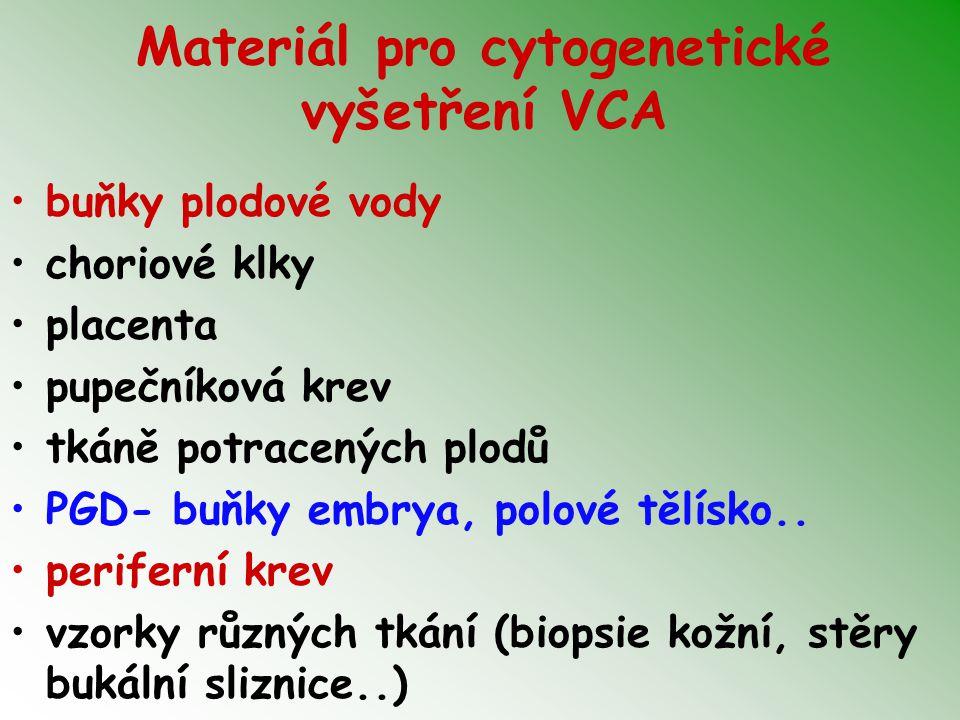 Materiál pro cytogenetické vyšetření VCA