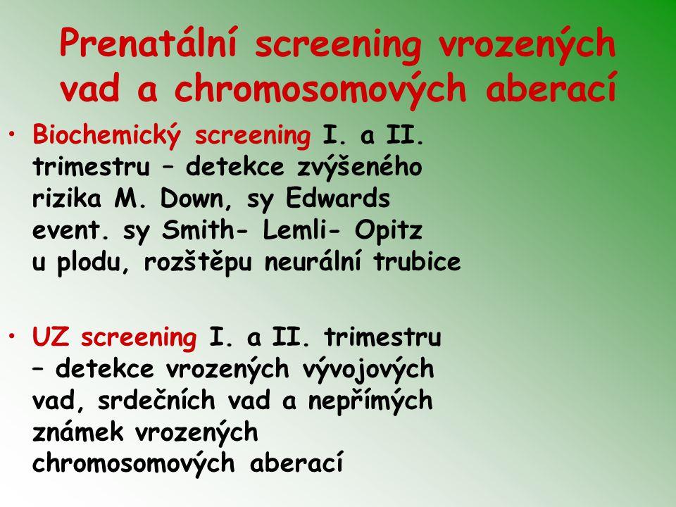 Prenatální screening vrozených vad a chromosomových aberací