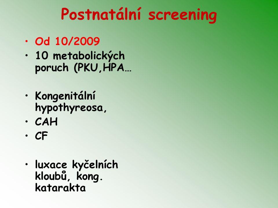 Postnatální screening
