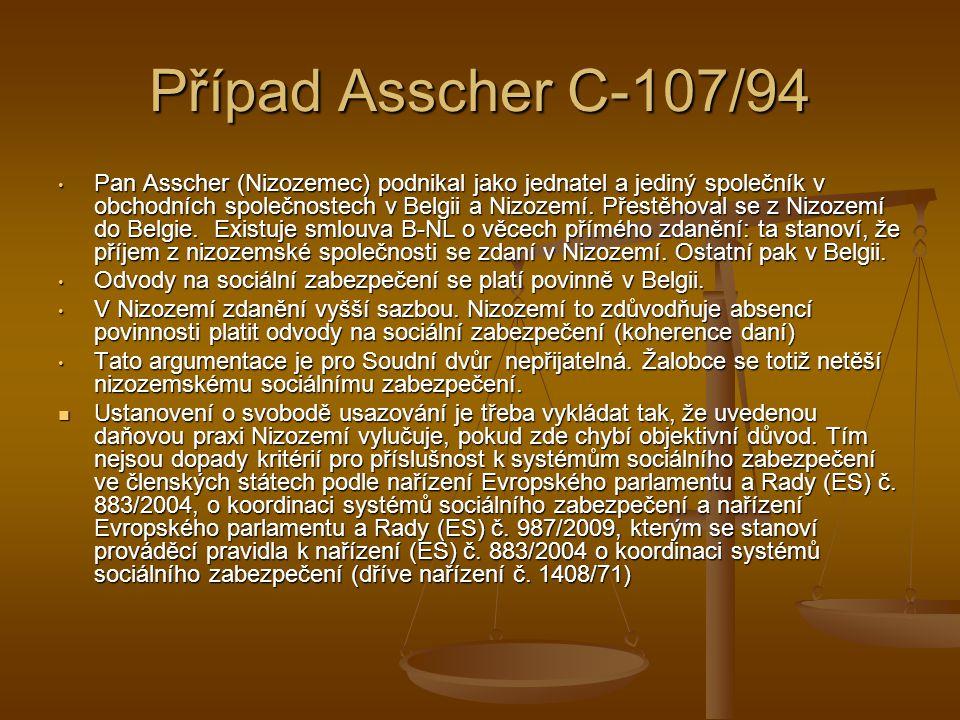 Případ Asscher C-107/94