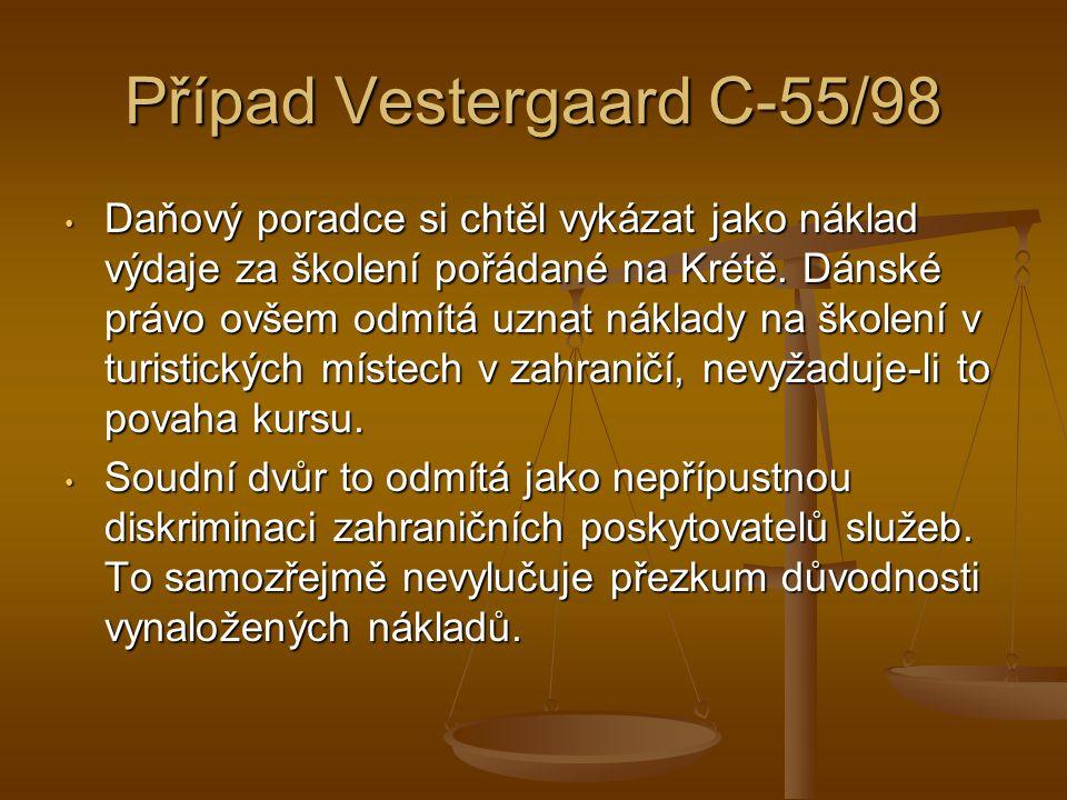 Případ Vestergaard C-55/98