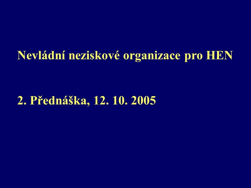 Nevládní neziskové organizace pro HEN