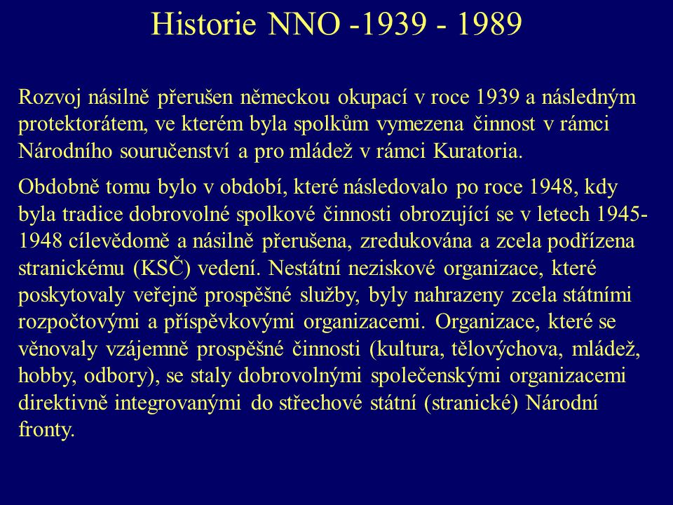 Historie NNO -1939 - 1989