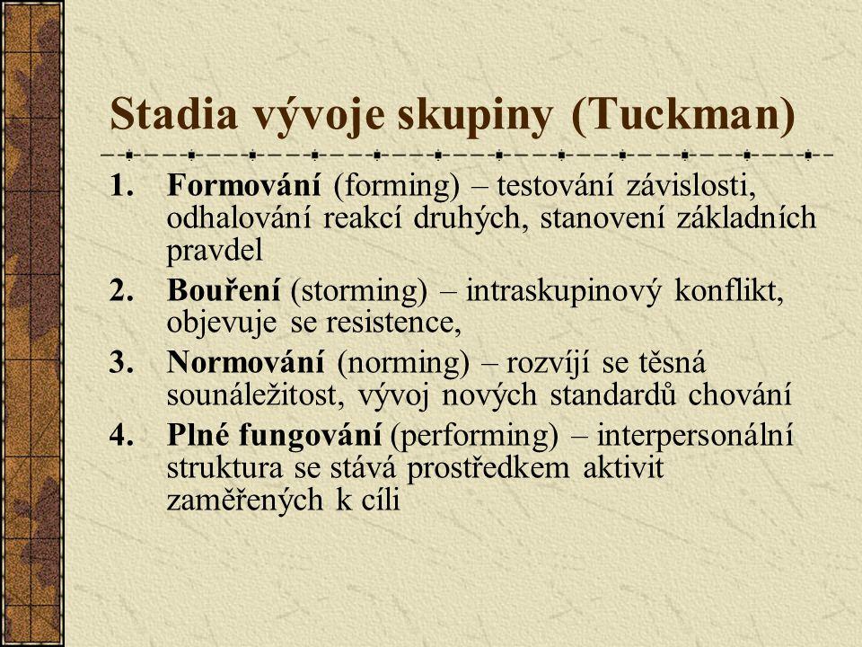 Stadia vývoje skupiny (Tuckman)
