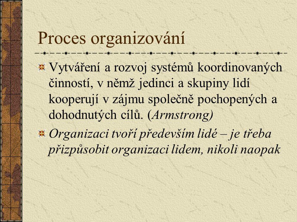 Proces organizování
