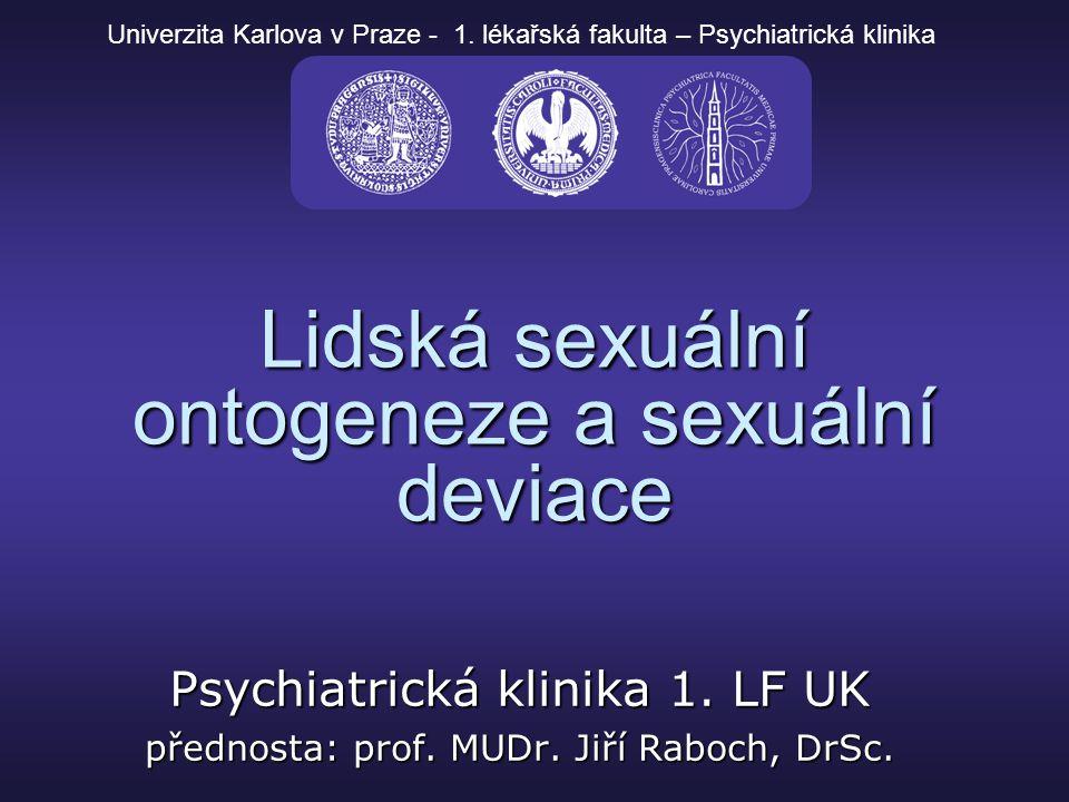 Lidská sexuální ontogeneze a sexuální deviace