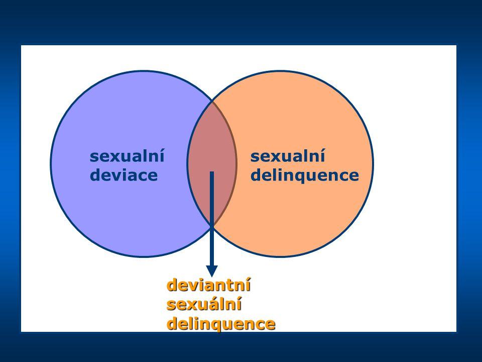 sexualní sexualní deviace delinquence deviantní sexuální delinquence