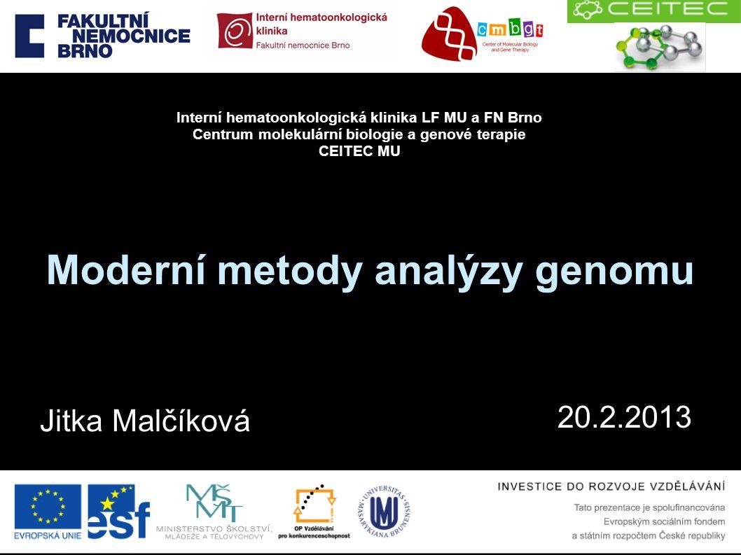 Moderní metody analýzy genomu