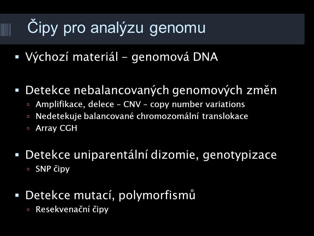 Čipy pro analýzu genomu