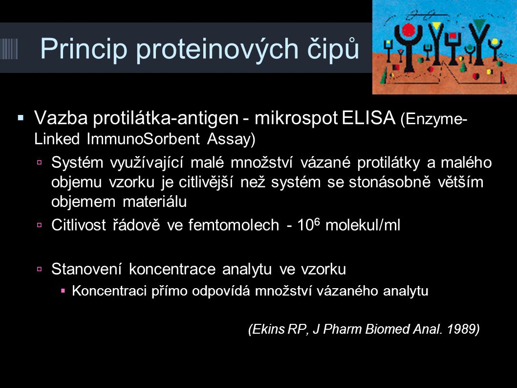 Princip proteinových čipů