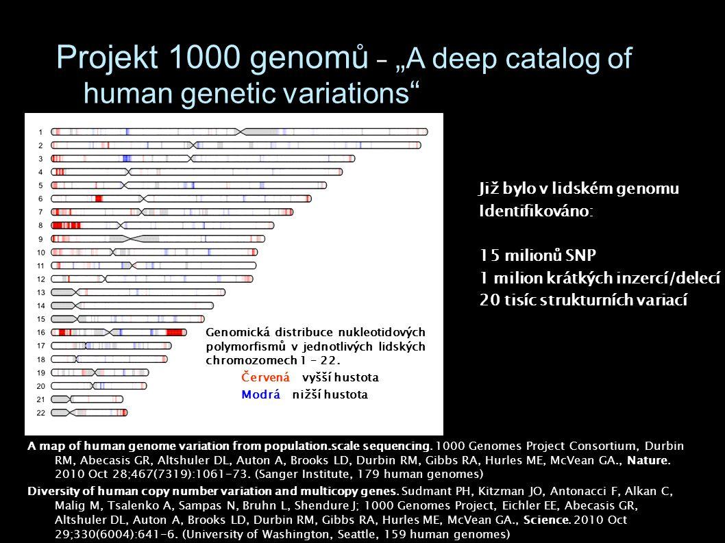 """Projekt 1000 genomů – """"A deep catalog of human genetic variations"""