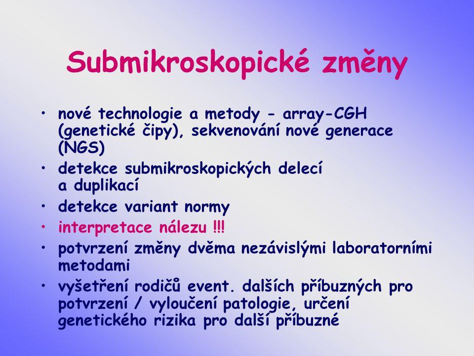 Submikroskopické změny