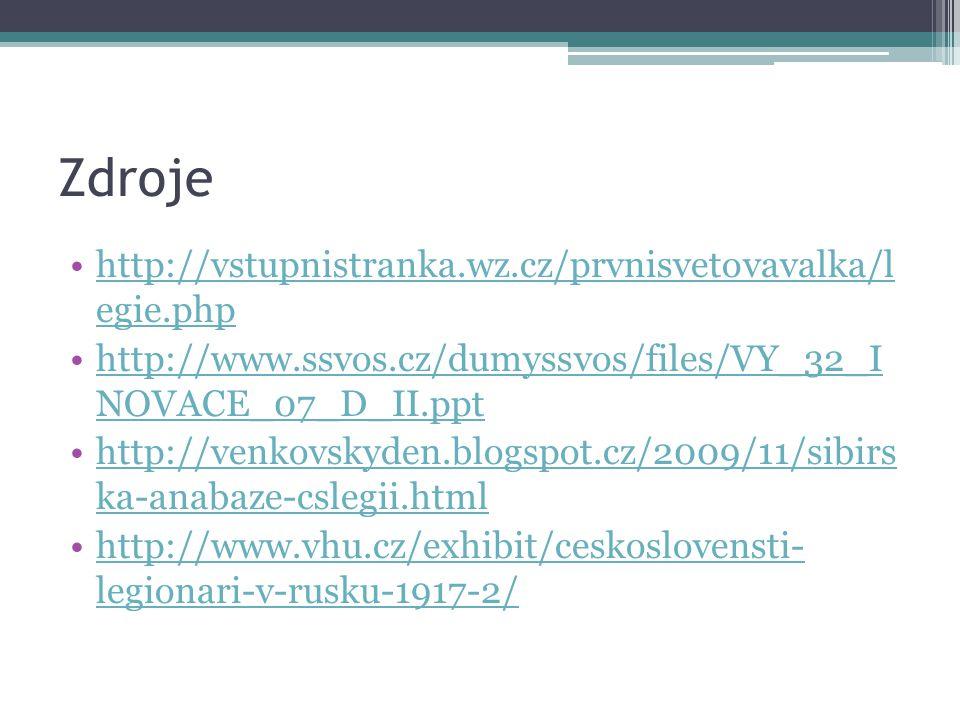 Zdroje http://vstupnistranka.wz.cz/prvnisvetovavalka/l egie.php