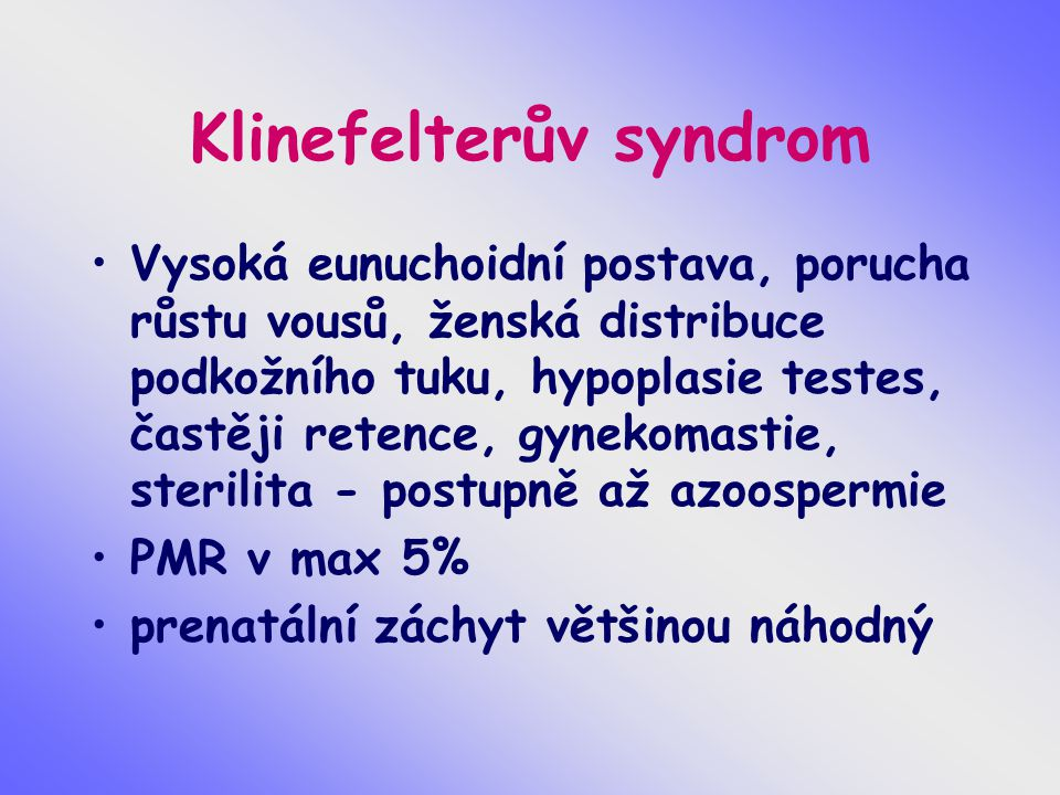 Klinefelterův syndrom